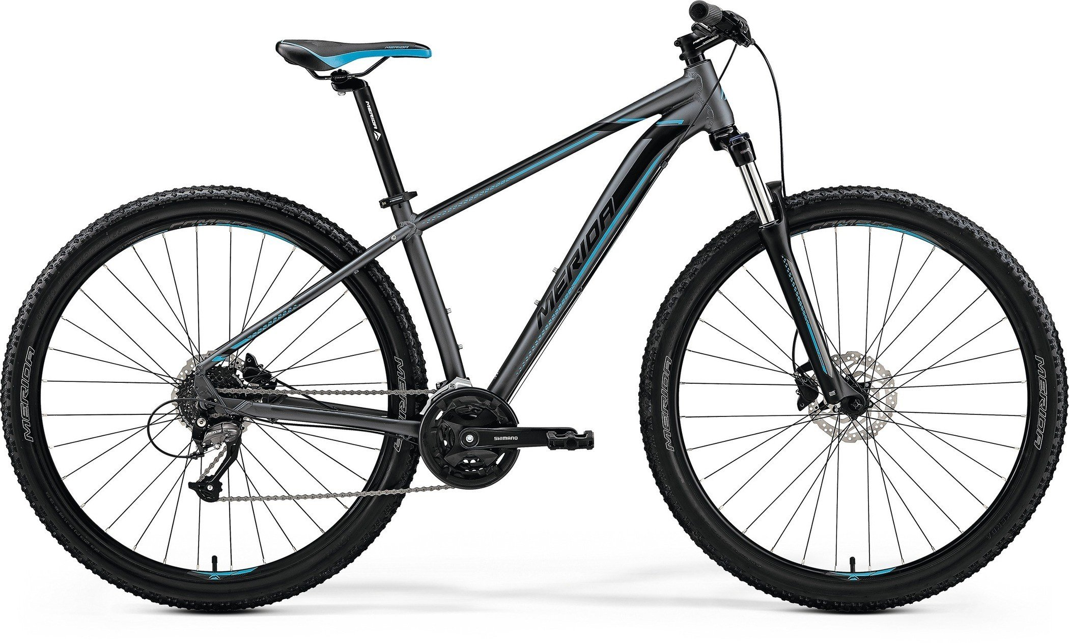 Merida BIG.NINE 40-D Matt Dark Silver(Blue/Blk) L(19)