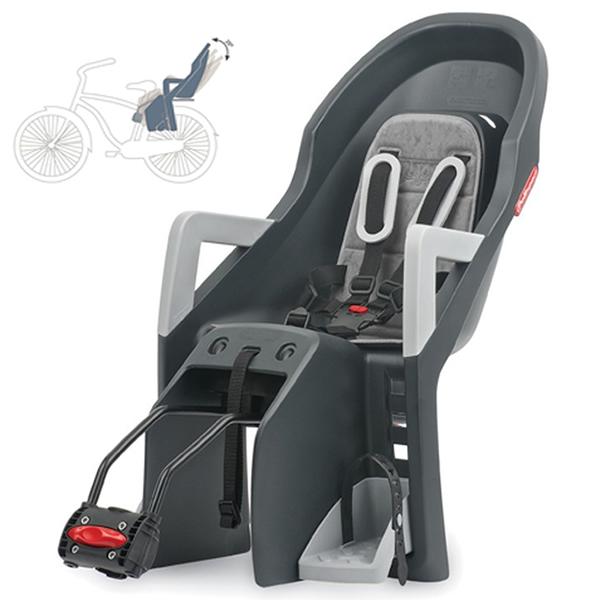 1e337e4df0 Dětská sedačka na kolo Polisport Guppy Maxi RS šedá stříbrná ...