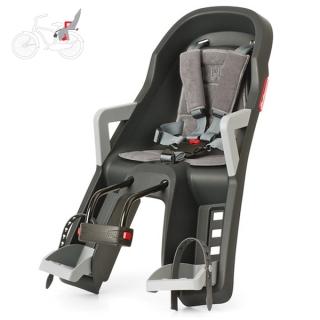 9556f710e6 Dětská sedačka na kolo Polisport Guppy Mini šedá