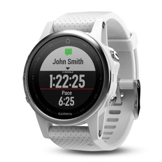 Garmin fénix 5S Silver + White Band