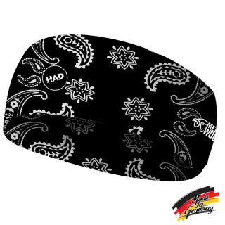 H.A.D. Merino India Paisley Black