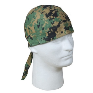 Šátek Headwrap Woodland Digital Camo Rothco
